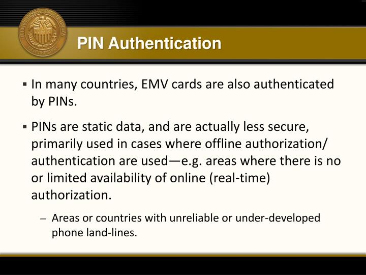 PIN Authentication
