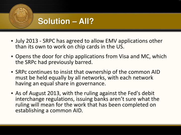 Solution – All?