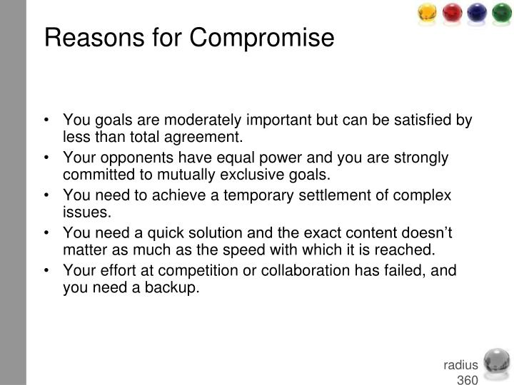 Reasons for Compromise