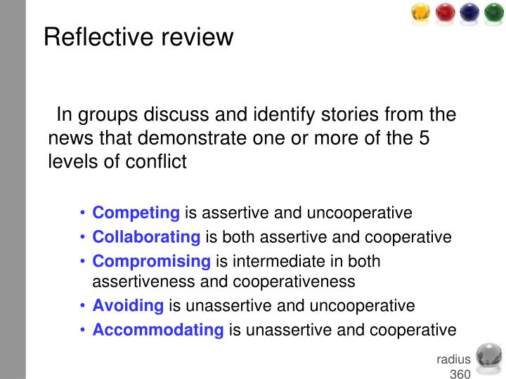 Reflective review