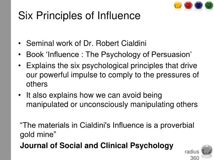 Six Principles of Influence