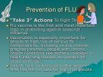 prevention of flu