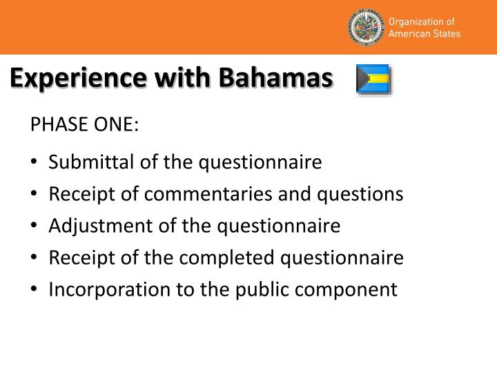 Experience with Bahamas