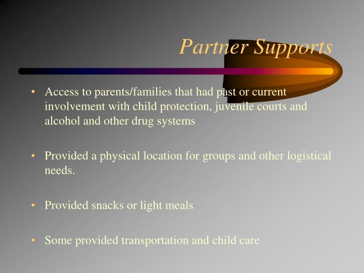 Partner Supports
