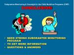 subgrantee monitoring oversight in the child nutrition programs cnp conclusion