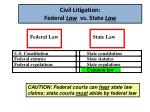 civil litigation federal law vs state law