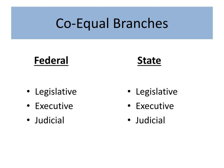Co equal branches