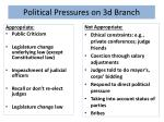 political pressures on 3d branch