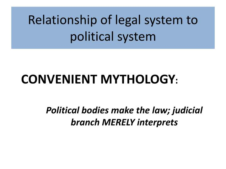 Relationship of legal system to political
