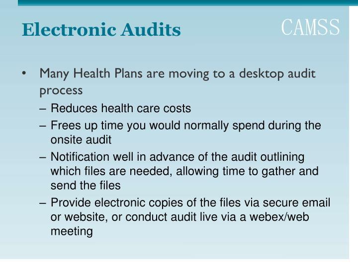 Electronic Audits