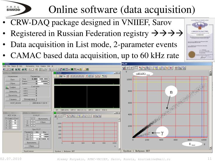 Online software (data acquisition)