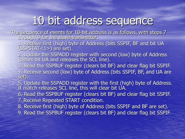 10 bit address sequence