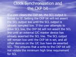 clock synchronization and the ckp bit