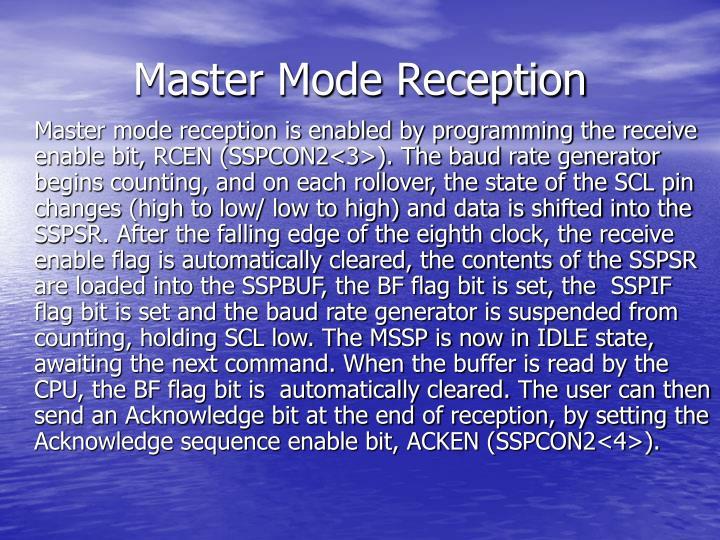 Master Mode Reception