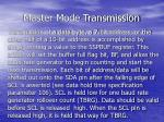master mode transmission
