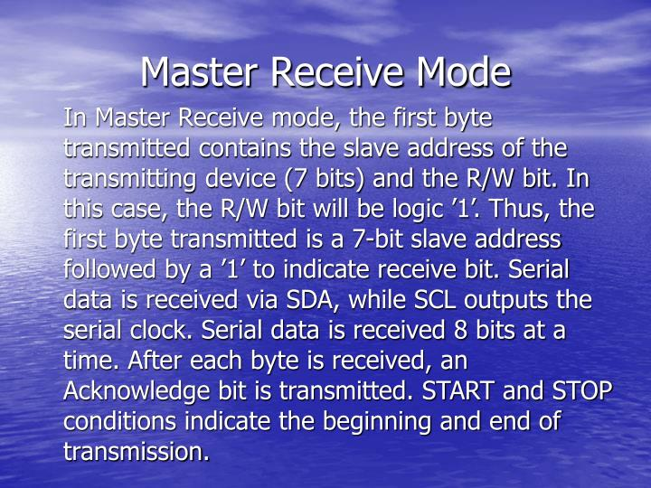 Master Receive Mode