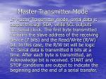master transmitter mode