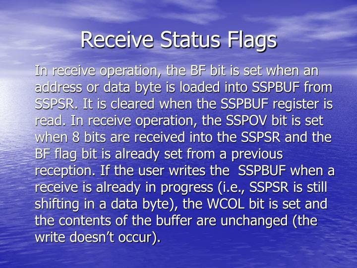 Receive Status Flags