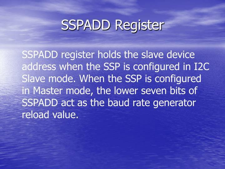 SSPADD Register