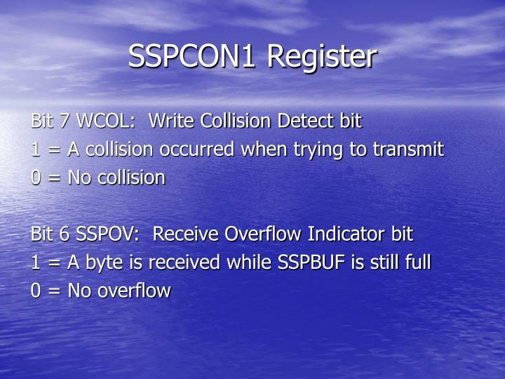 SSPCON1 Register