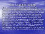 stop condition timing