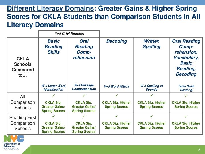 Different Literacy Domains