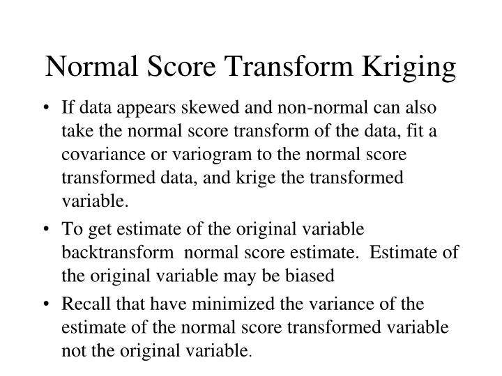 Normal Score Transform