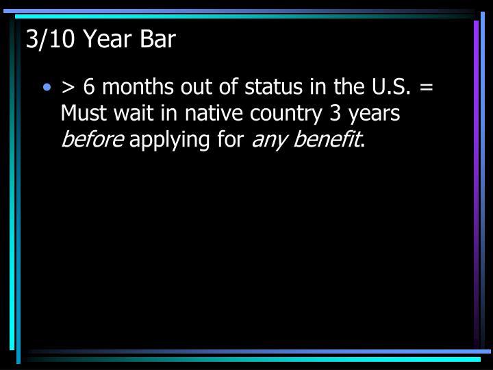 3/10 Year Bar