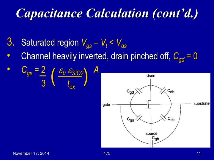 Capacitance Calculation (cont'd.)