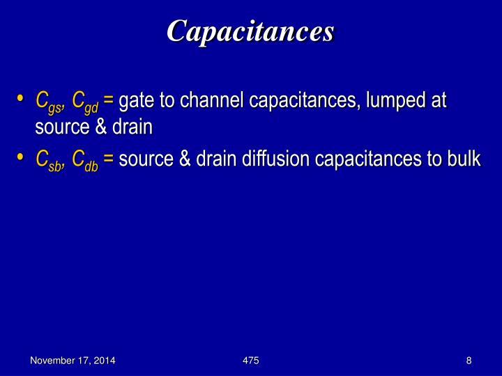 Capacitances