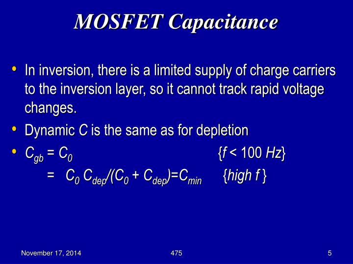 MOSFET Capacitance