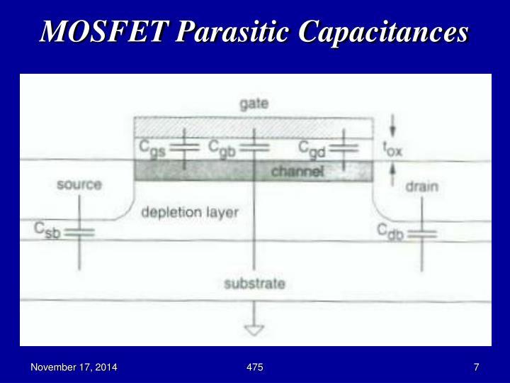 MOSFET Parasitic Capacitances