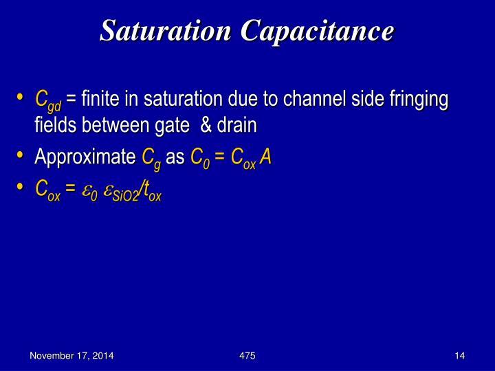 Saturation Capacitance