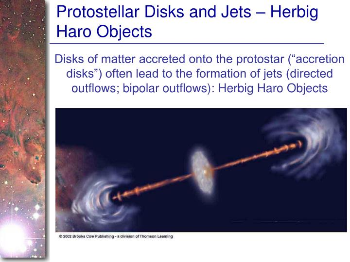 Protostellar Disks and Jets – Herbig Haro Objects