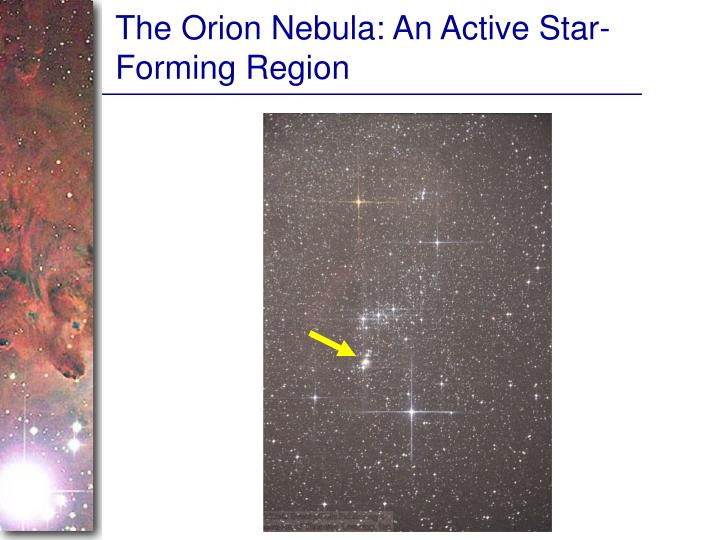The Orion Nebula: An Active Star-Forming Region