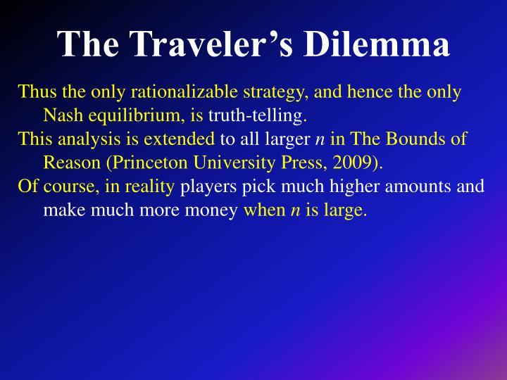 The Traveler's Dilemma