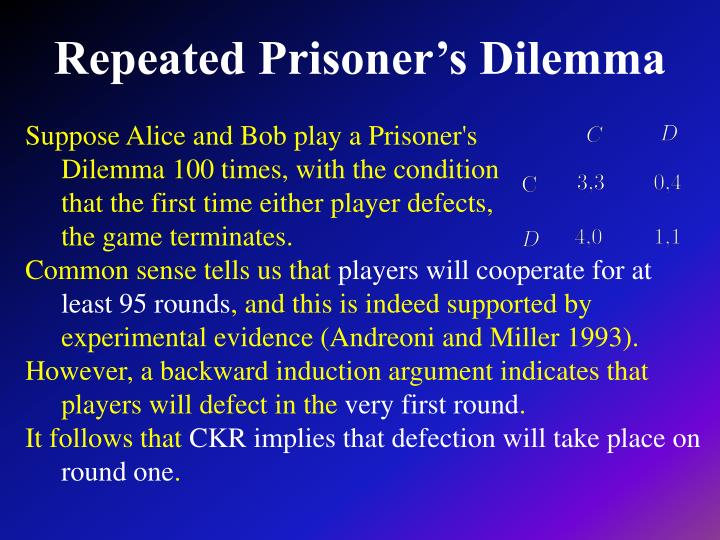 Repeated Prisoner's Dilemma
