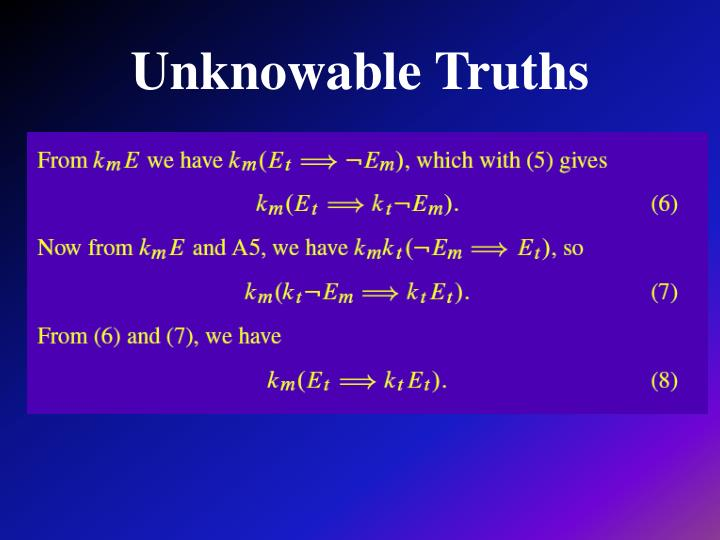 Unknowable Truths