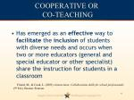 cooperative or co teaching