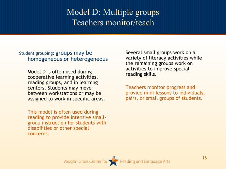Student grouping: