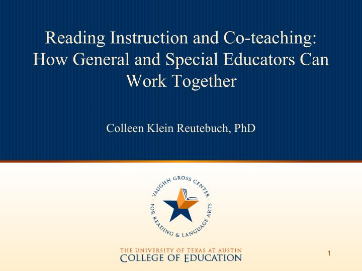 Reading Instruction and Co-teaching: