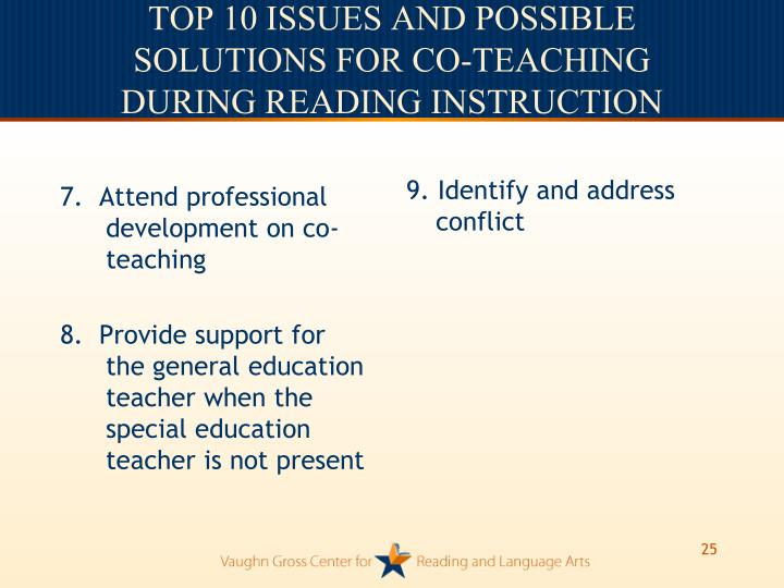 7.  Attend professional development on co-teaching