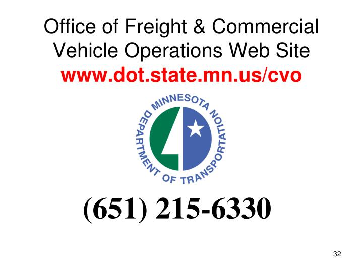 Office of Freight & Commercial Vehicle Operations Web Site