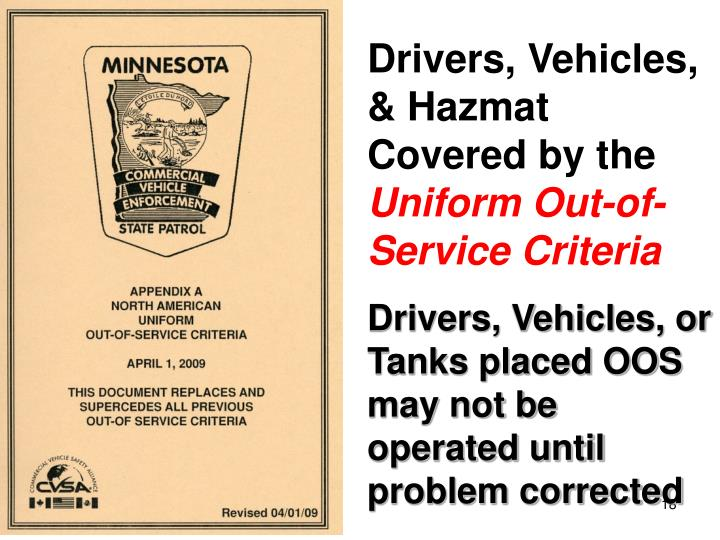 Drivers, Vehicles, & Hazmat Covered by the