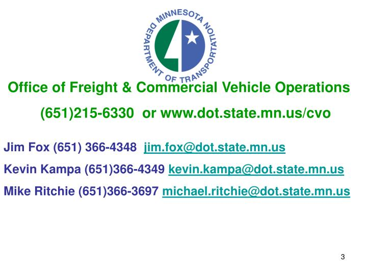 Office of Freight & Commercial Vehicle Operations