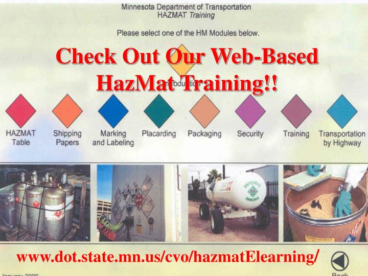 Check Out Our Web-Based HazMat Training!!