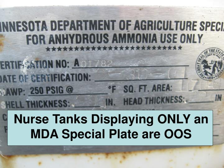 Nurse Tanks Displaying ONLY an MDA Special Plate are OOS