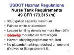usdot hazmat regulations nurse tank requirements 49 cfr 173 315 m1