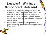 example 4 writing a biconditional statement1