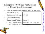 example 5 writing a postulate as a biconditional statement1